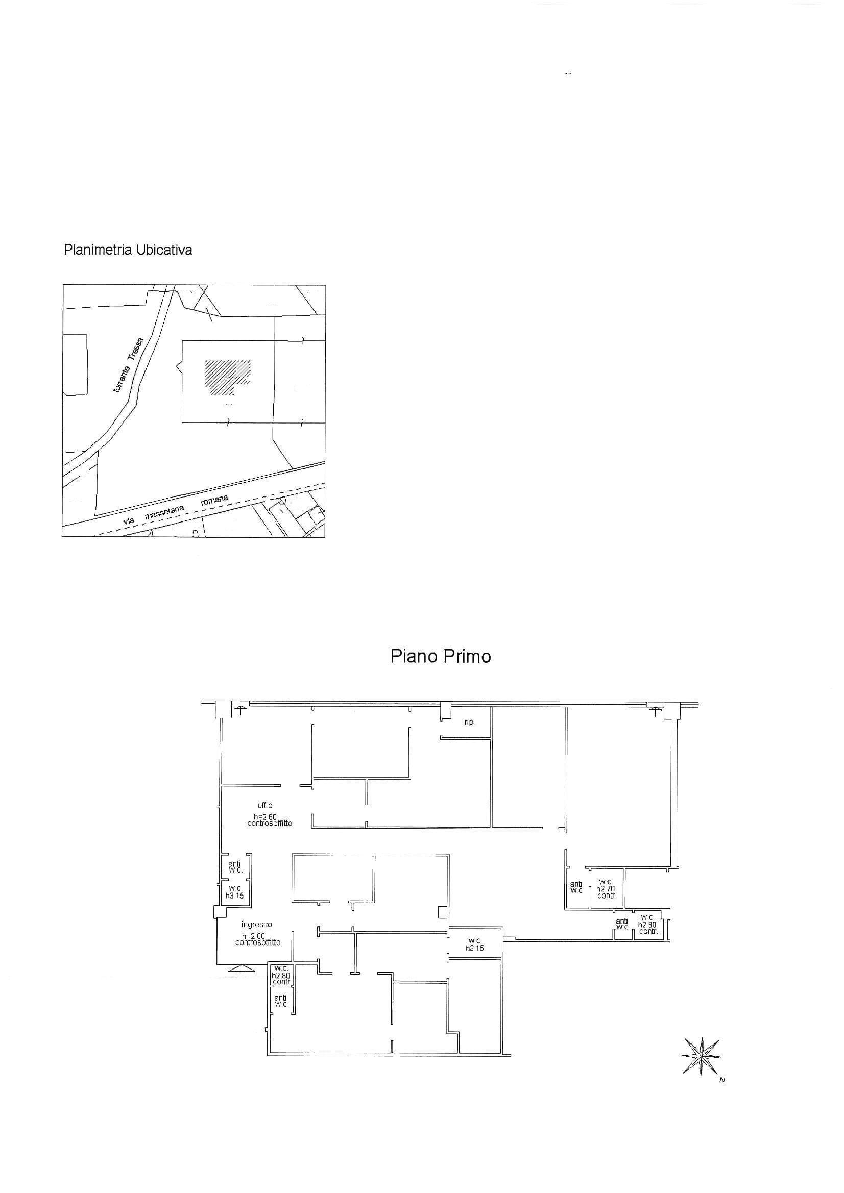 Ufficio in affitto commerciale, rif. C54 (Planimetria 1/1)