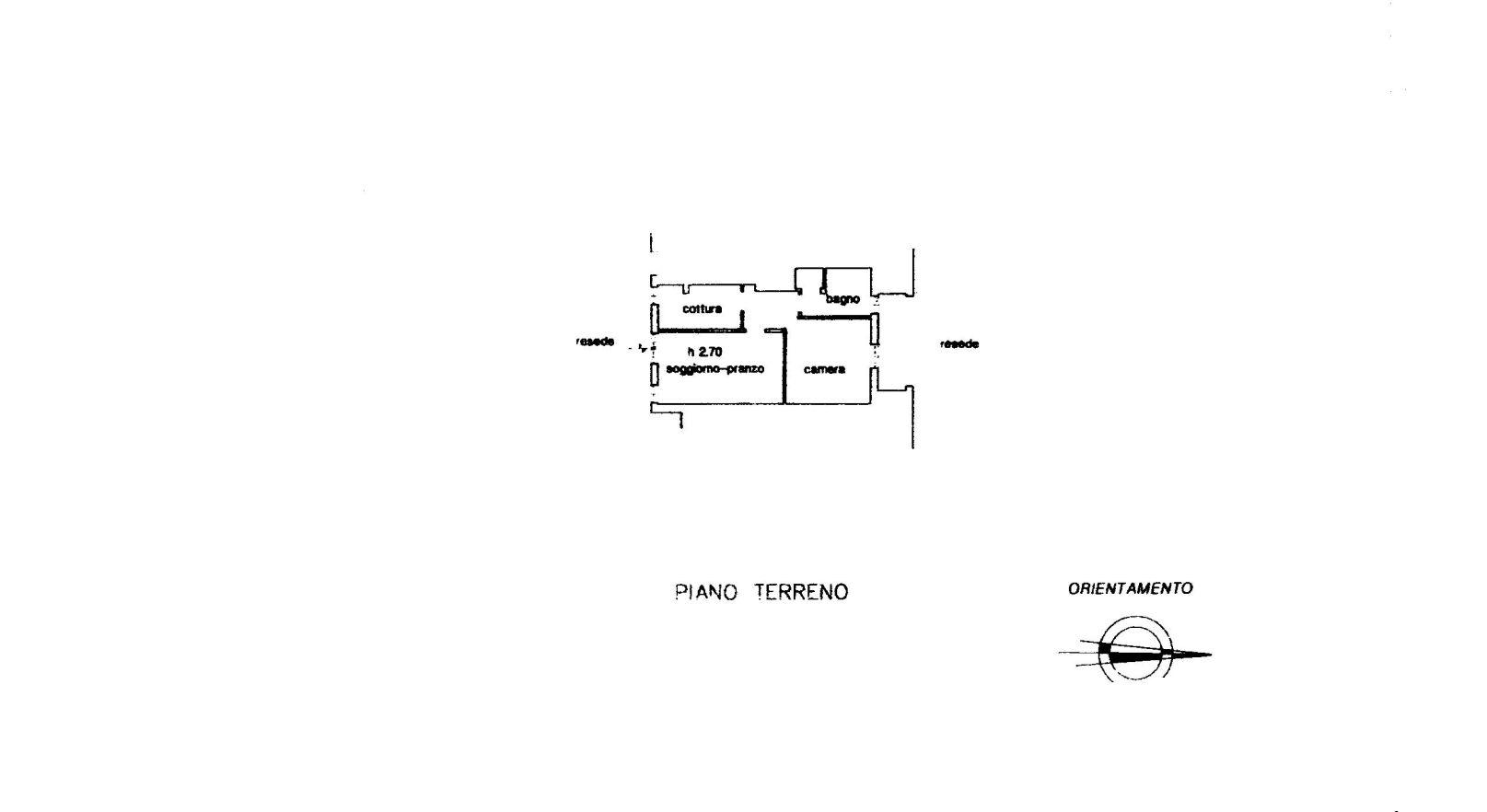 Appartamento in vendita, rif. R518 (Planimetria 1/1)