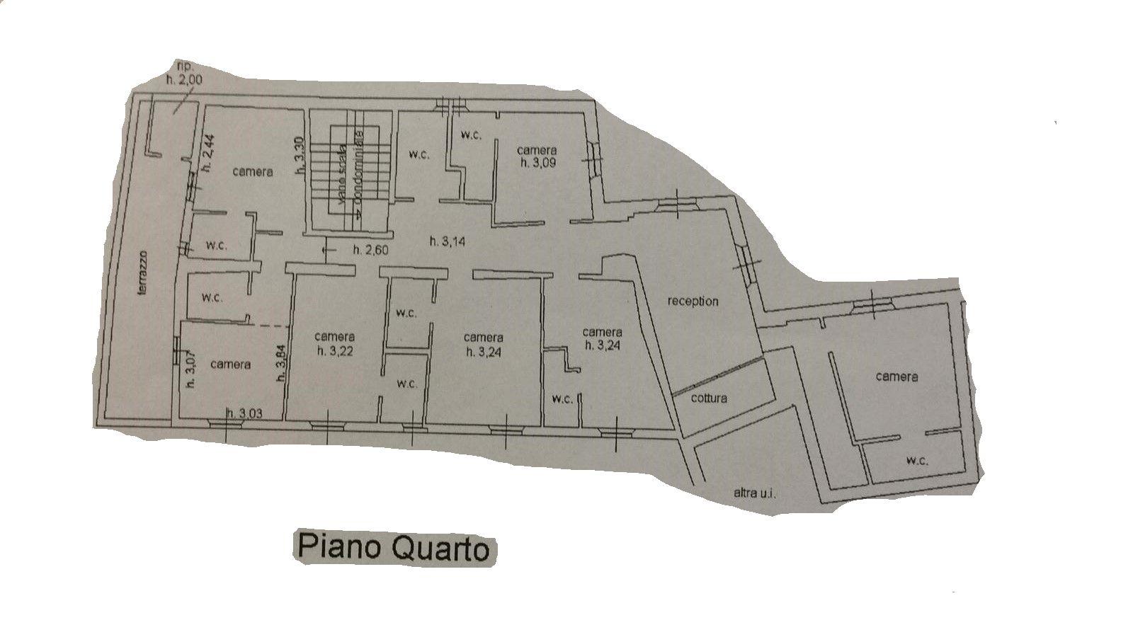 Albergo/Hotel in vendita, rif. R526 (Planimetria 1/1)
