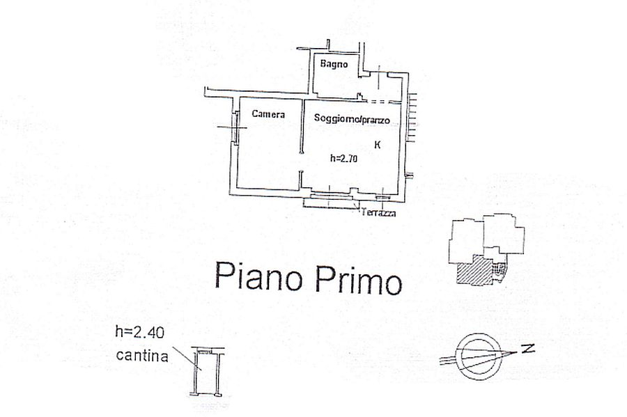 Appartamento in affitto, rif. R/284 (Planimetria 1/1)