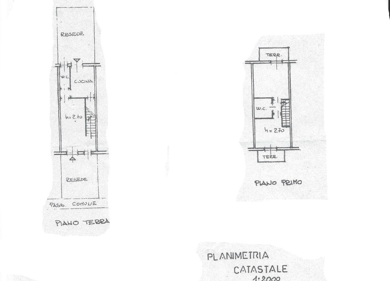 Terratetto in vendita, rif. R/530 (Planimetria 1/2)