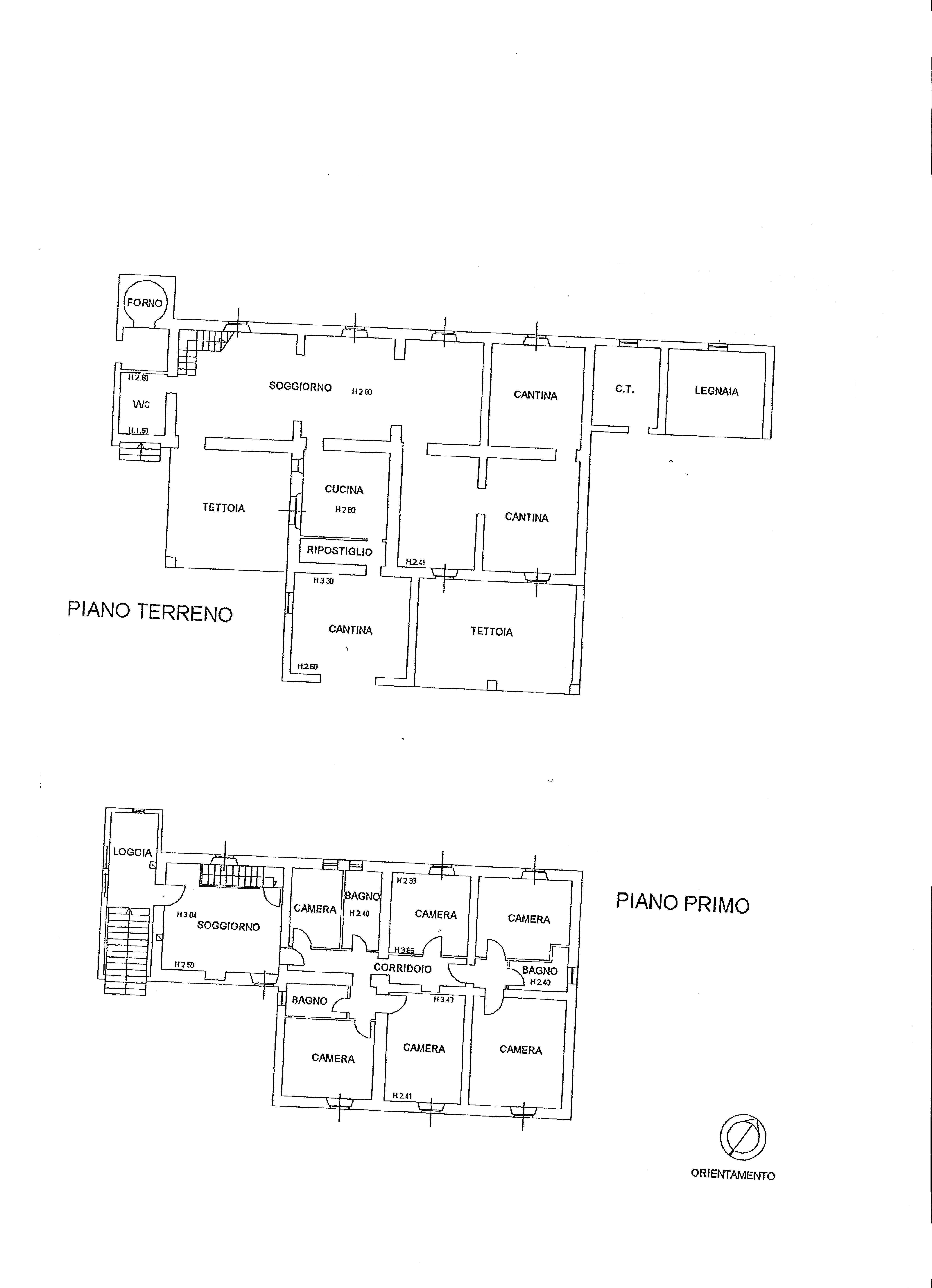 Colonica in vendita, rif. R535 (Planimetria 1/1)