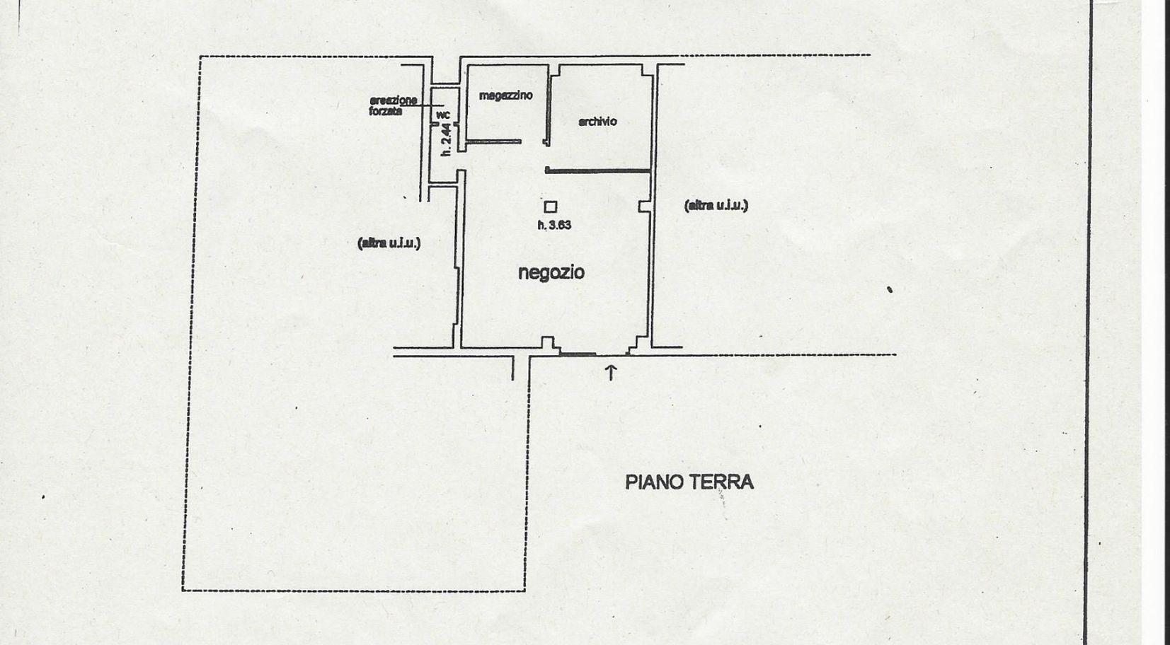 Locale comm.le/Fondo in affitto commerciale, rif. C/56 (Planimetria 1/1)
