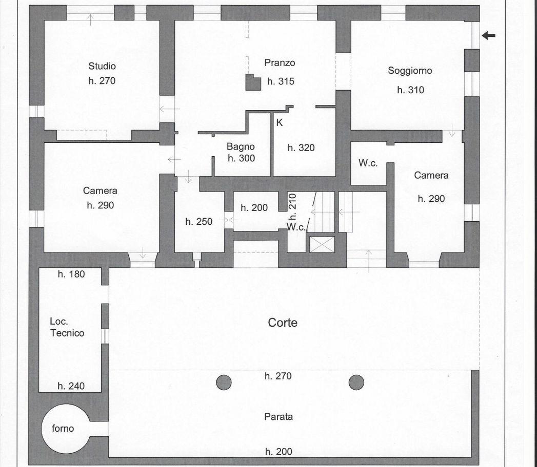 Appartamento in affitto, rif. R/547 (Planimetria 1/1)
