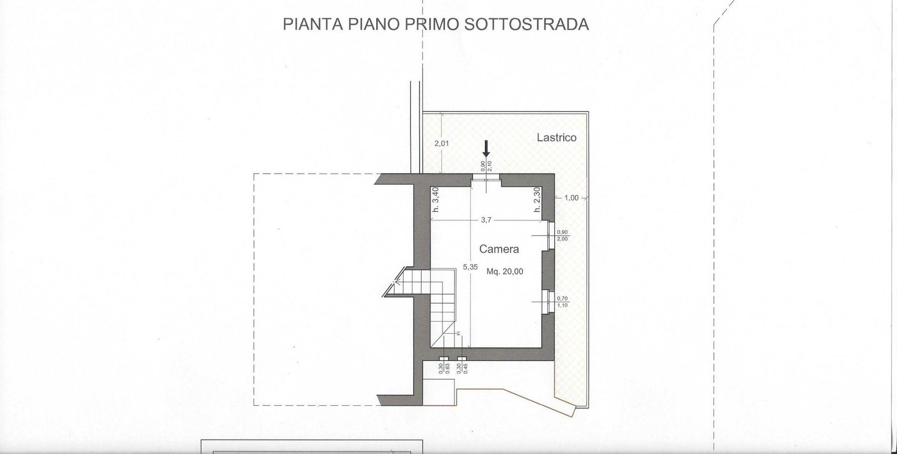 Appartamento in affitto, rif. R/548 (Planimetria 2/2)