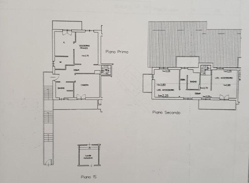 Appartamento in vendita, rif. R/549 (Planimetria 1/2)