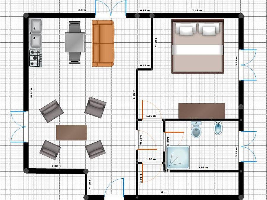 Appartamento in vendita, rif. R/550 (Planimetria 1/1)