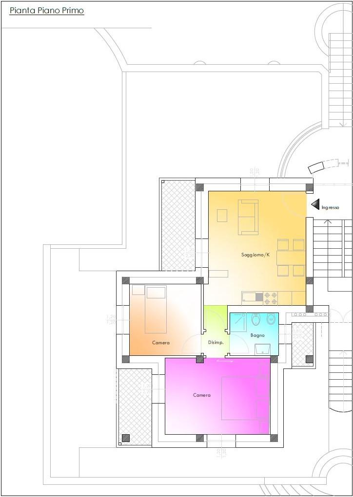 Appartamento in vendita, rif. R/553 (Planimetria 5/6)