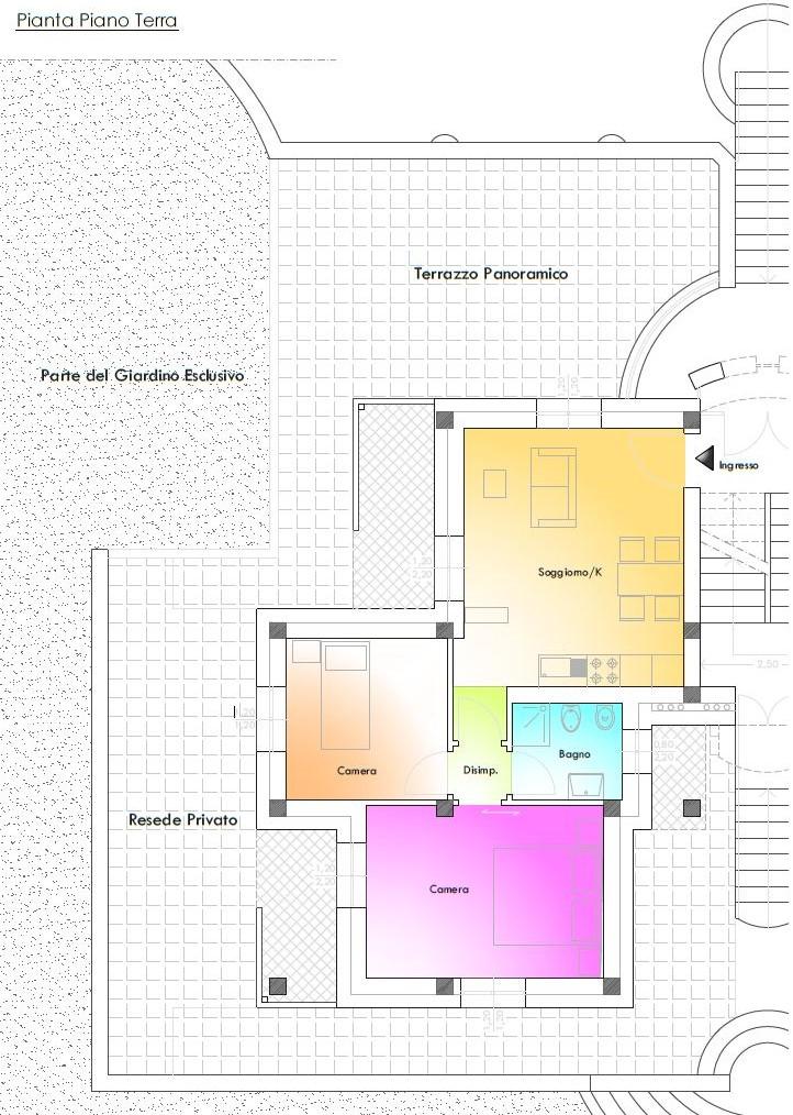 Appartamento in vendita, rif. R/553 (Planimetria 6/6)