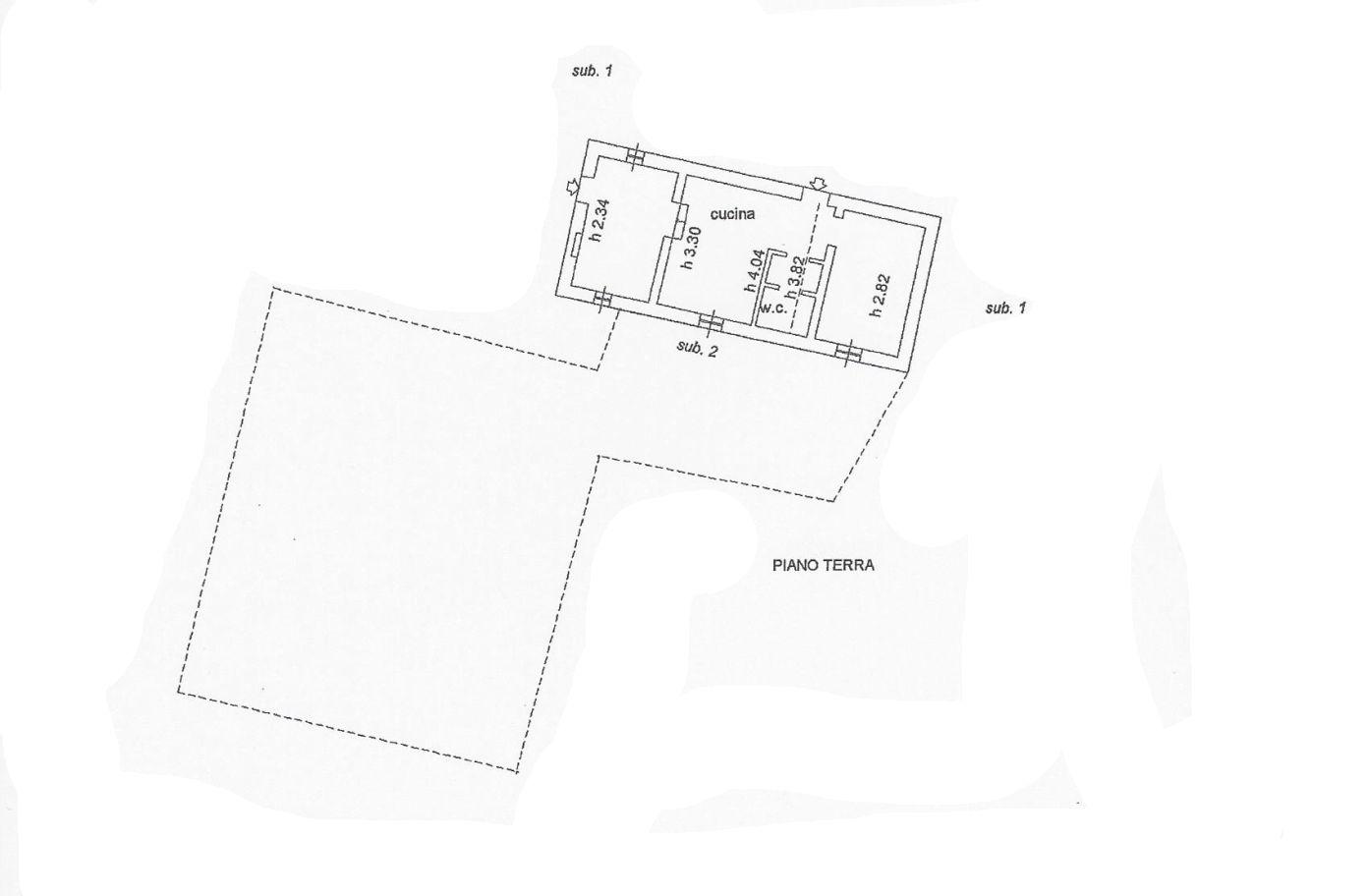 Colonica in vendita, rif. R/555 (Planimetria 3/3)
