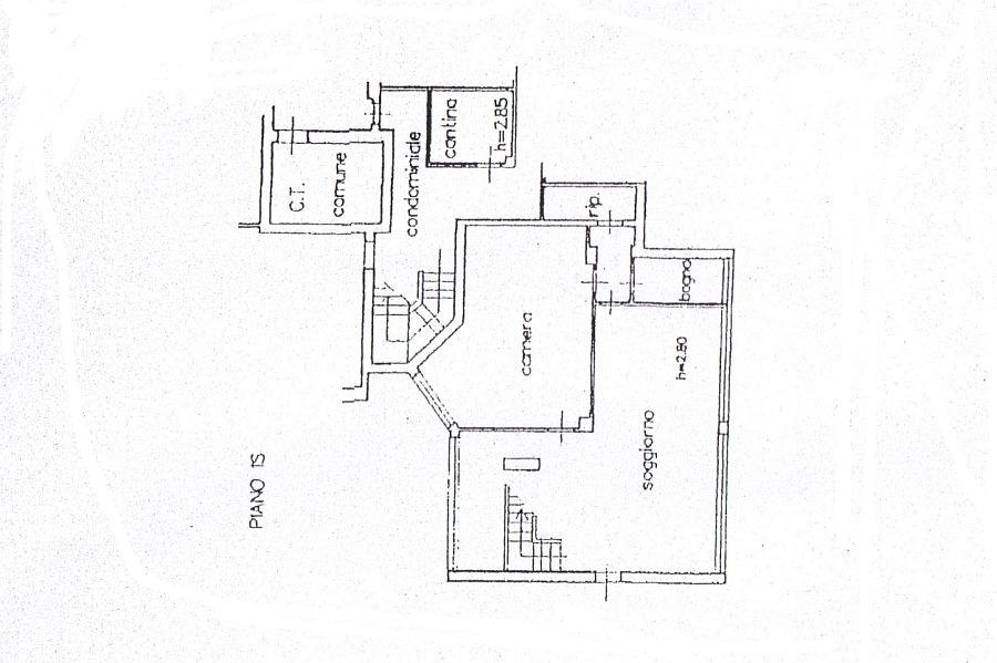 Appartamento in vendita, rif. R/598 (Planimetria 1/2)