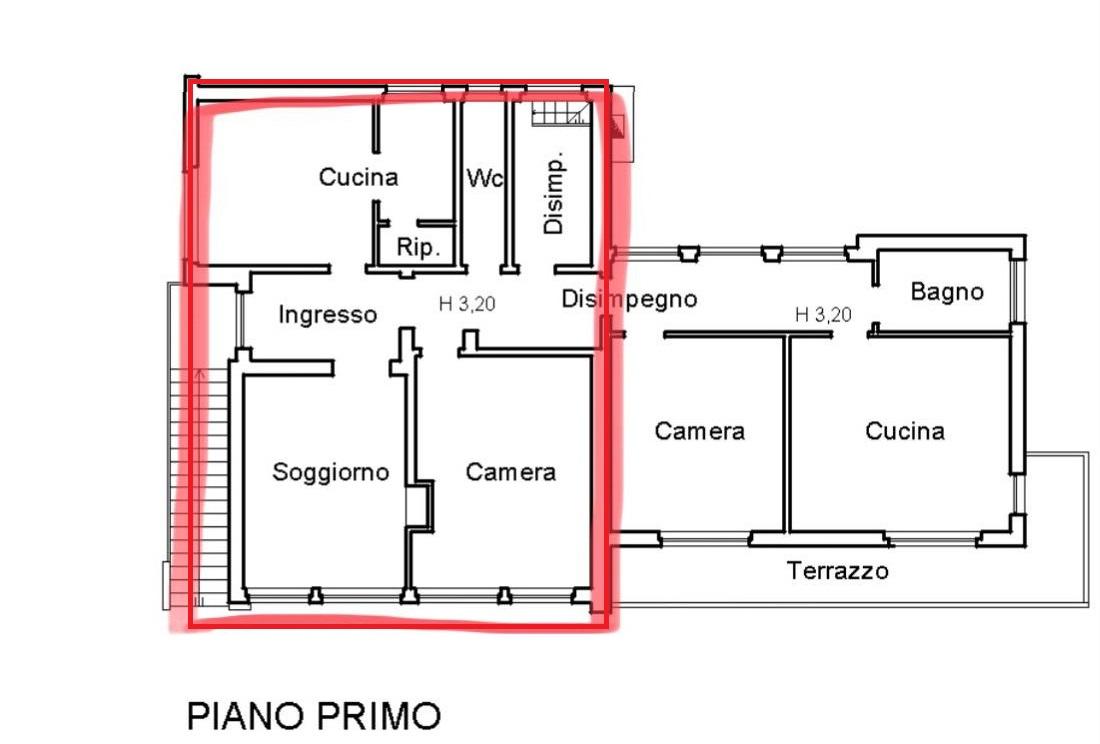 Appartamento in affitto, rif. R/558 (Planimetria 1/1)