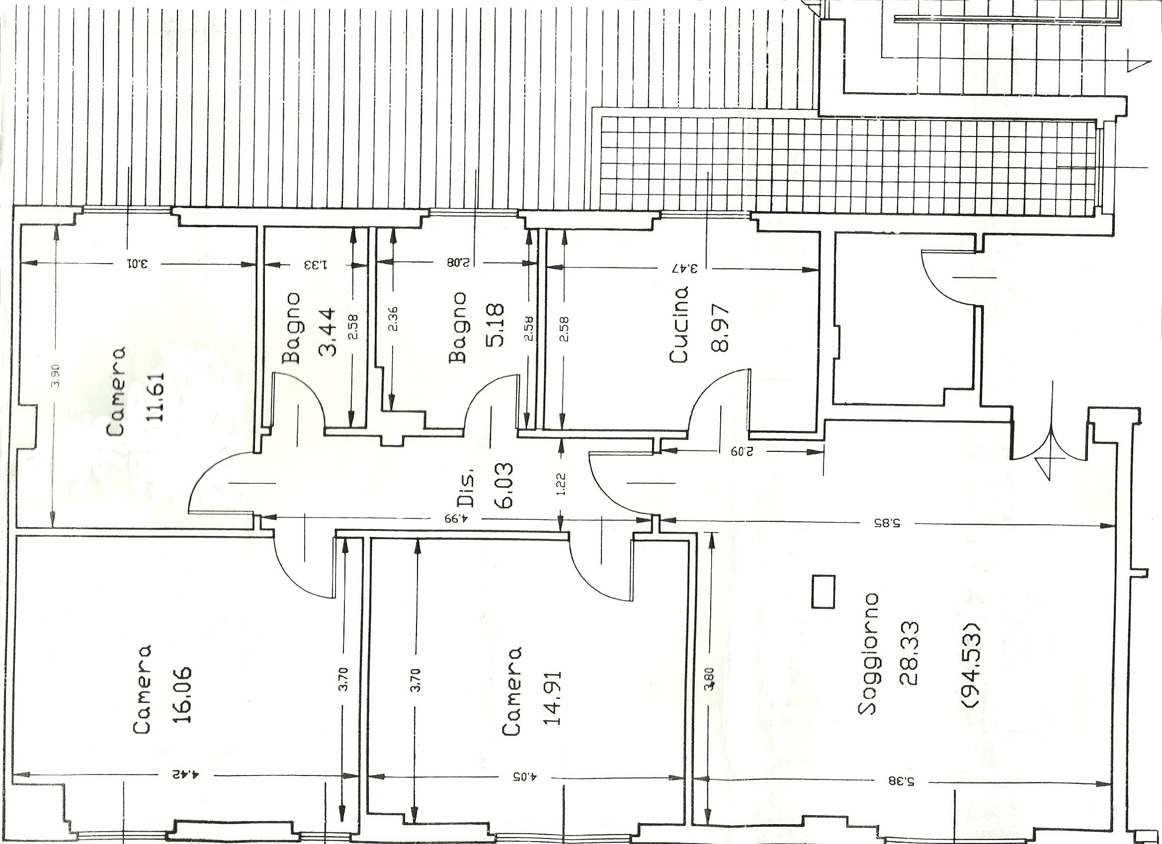 Apartment for sale, ref. R/561 (Plan 1/2)