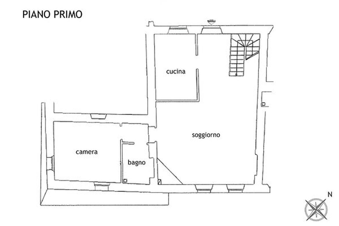Appartamento in affitto, rif. R/566 (Planimetria 1/3)