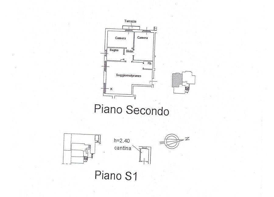 Appartamento in affitto, rif. R/210 (Planimetria 1/2)
