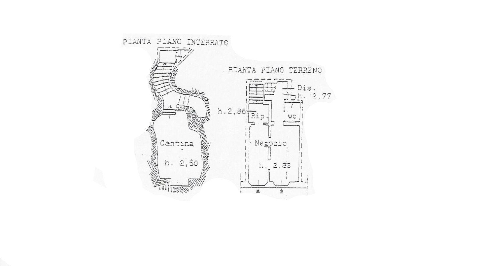 Locale comm.le/Fondo in vendita, rif. C/57 (Planimetria 1/1)
