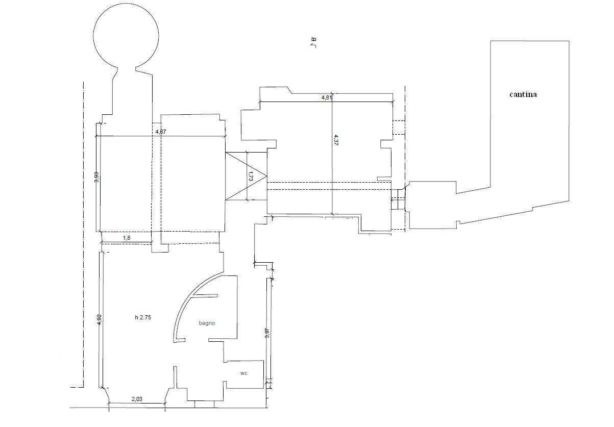 Negozio in affitto commerciale, rif. C/58 (Planimetria 1/1)