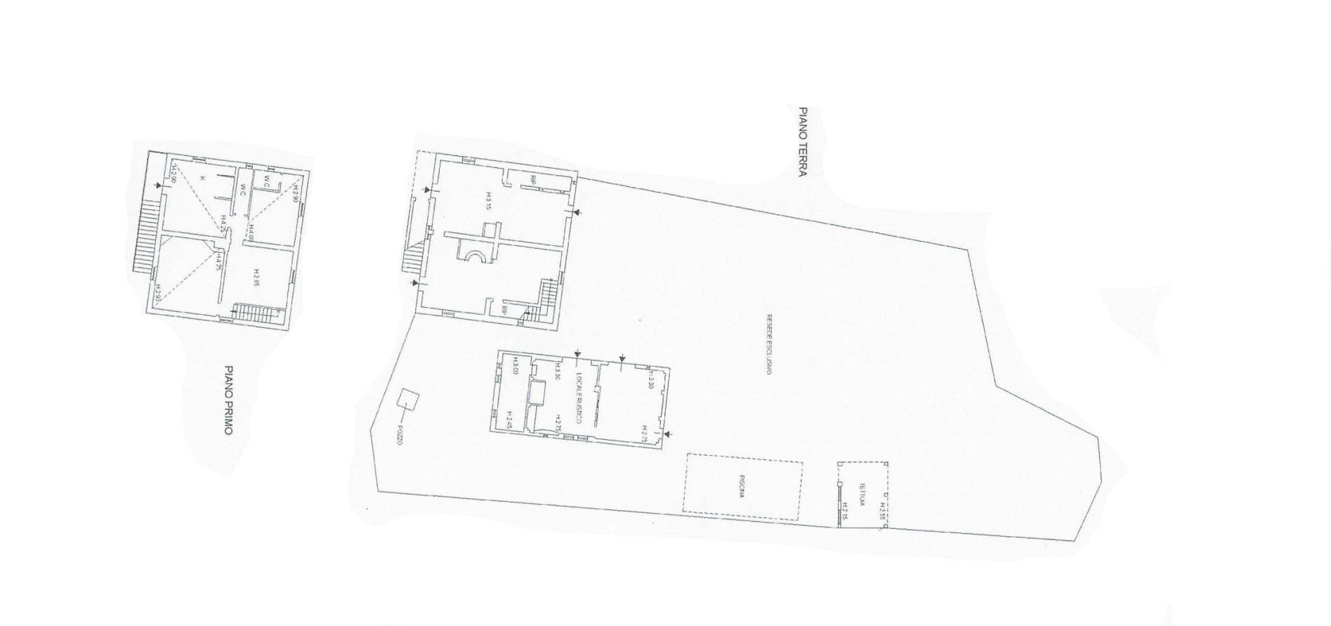 Casale in vendita, rif. R/585 (Planimetria 1/1)