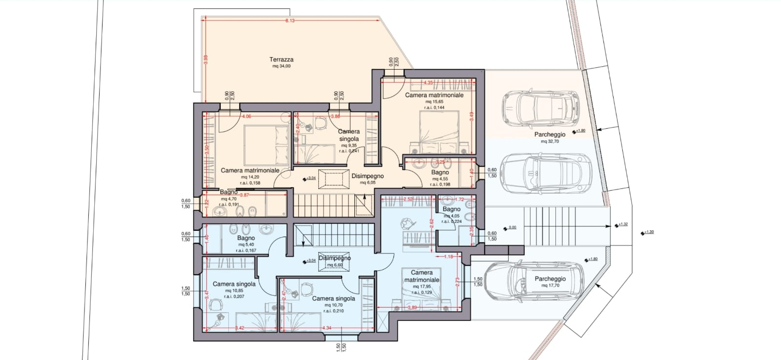 Terratetto in vendita, rif. R/587 (Planimetria 2/2)