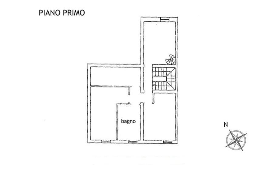 Porzione di casa in vendita, rif. R/599 (Planimetria 1/4)