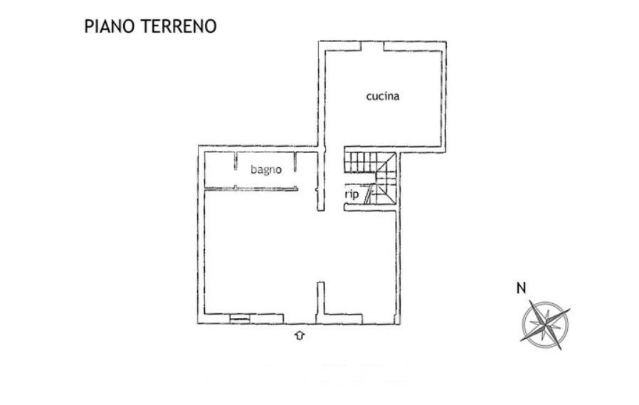 Porzione di casa in vendita, rif. R/599 (Planimetria 2/4)
