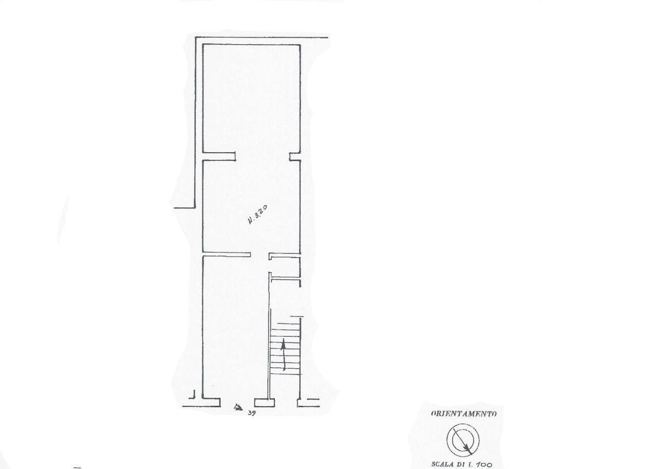 Locale comm.le/Fondo in affitto commerciale, rif. R/604 (Planimetria 1/1)