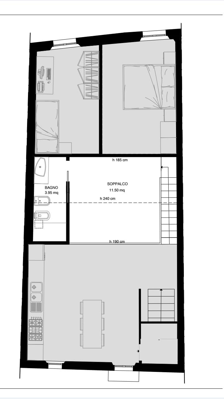 Appartamento in affitto, rif. R/607 (Planimetria 2/2)