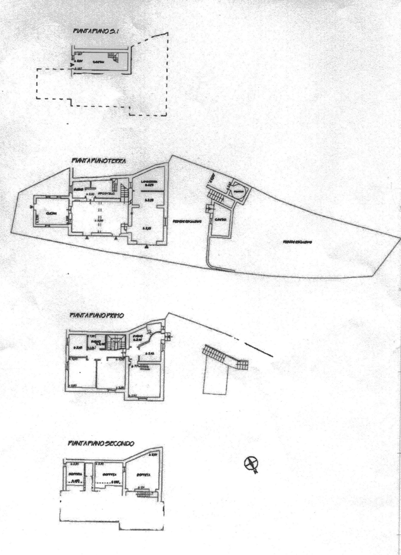 Porzione di casa in vendita, rif. R/607 (Planimetria 1/1)