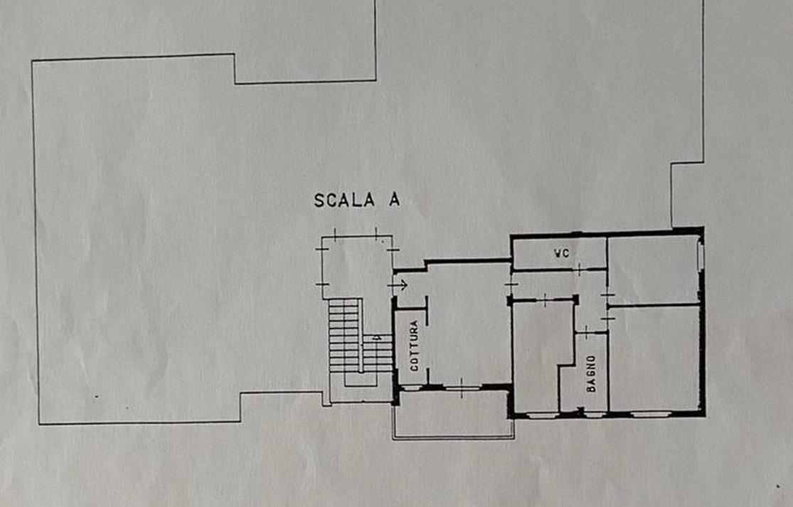 Appartamento in vendita, rif. R/612 (Planimetria 1/2)