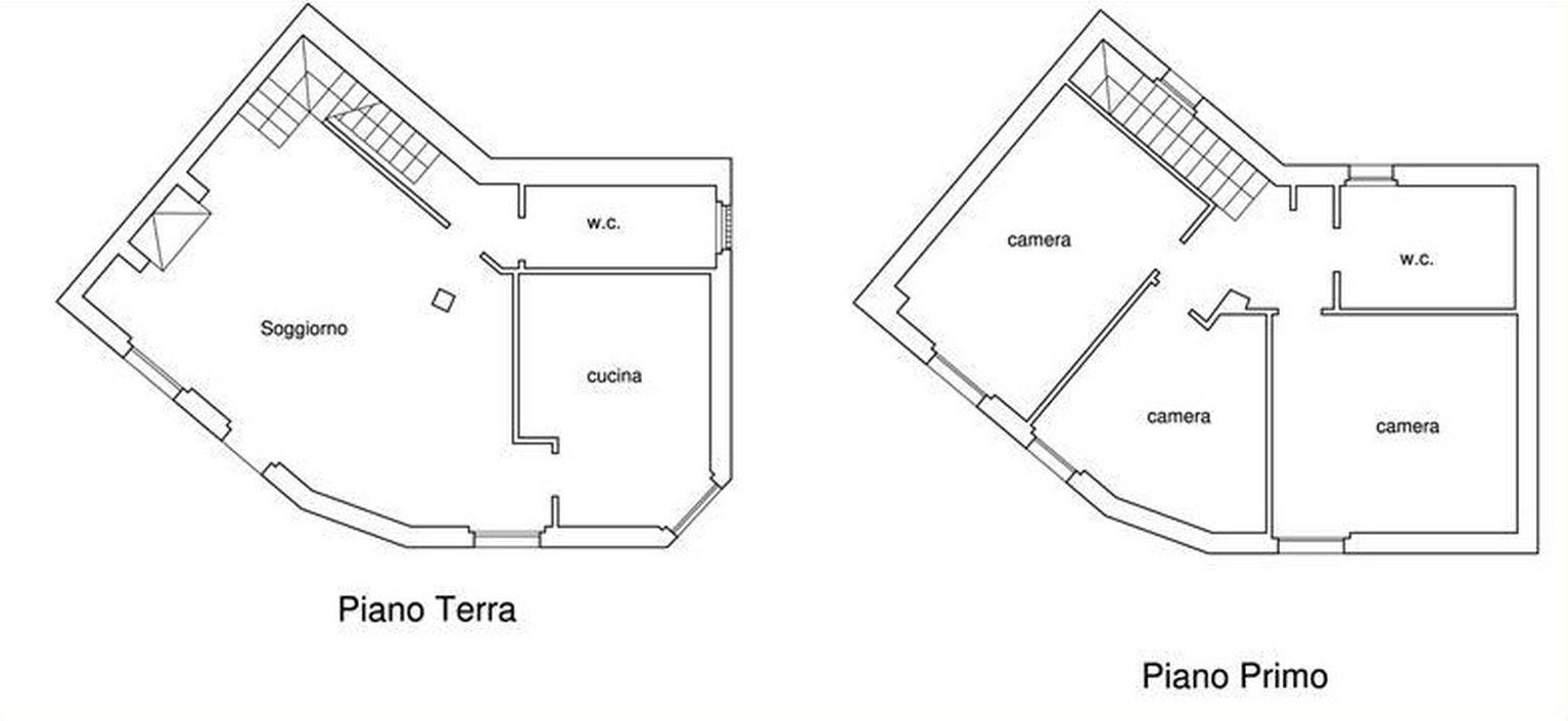Villa singola in vendita, rif. R/614 (Planimetria 1/2)