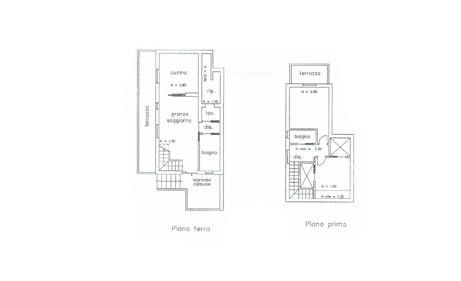 Appartamento in vendita, rif. R/625 (Planimetria 1/1)