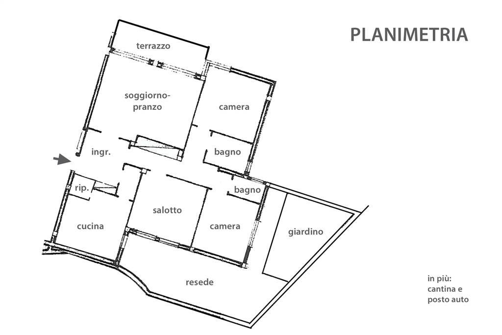 Appartamento in affitto, rif. R/632 (Planimetria 1/1)