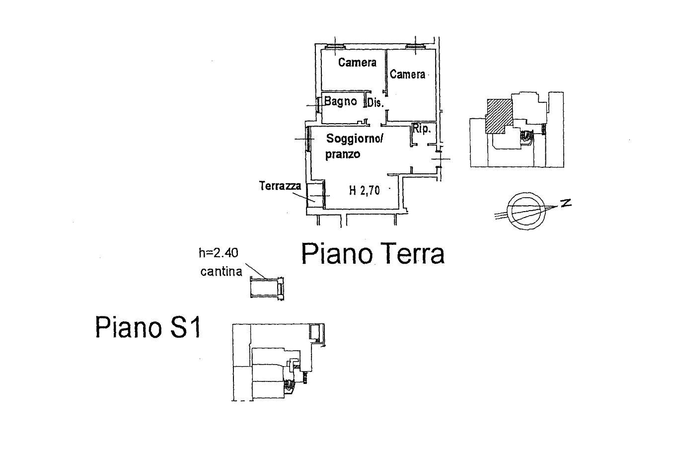 Appartamento in affitto, rif. R/635 (Planimetria 1/2)