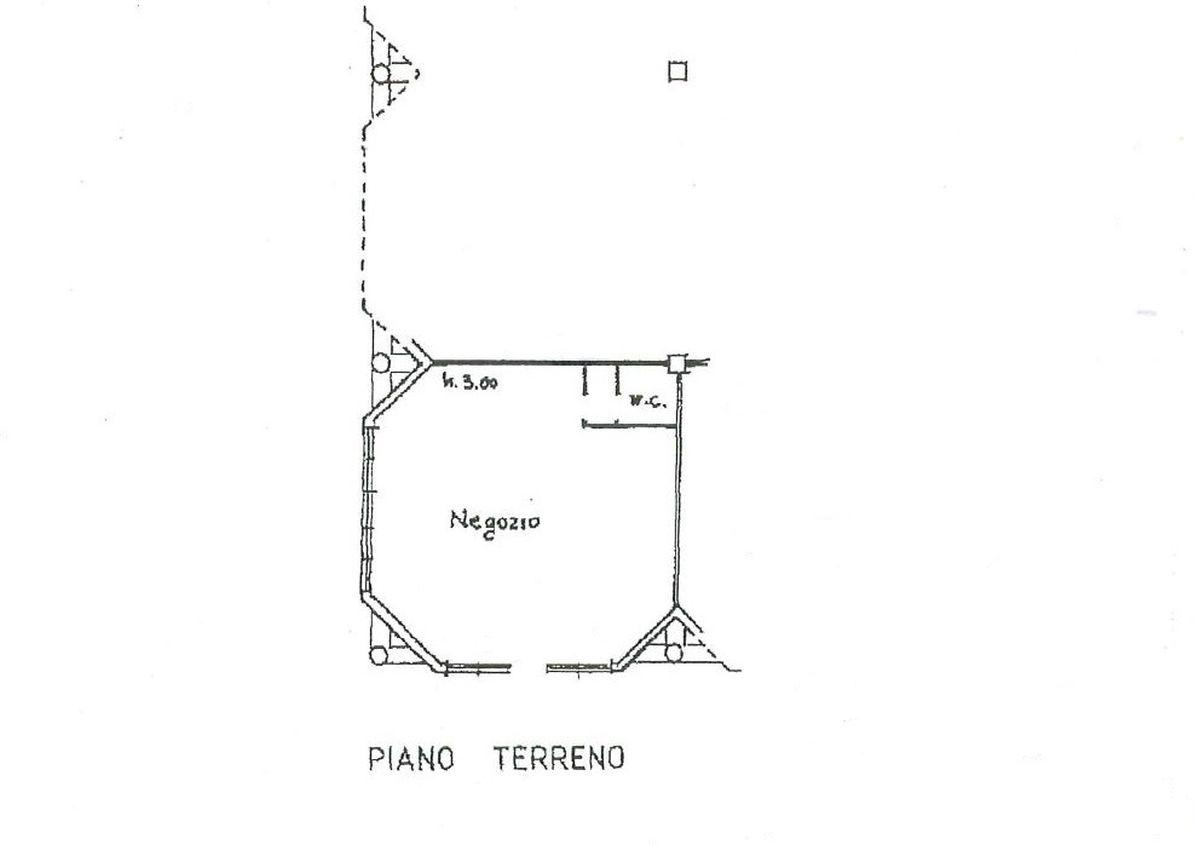 Negozio in affitto commerciale, rif. C/70 (Planimetria 1/1)