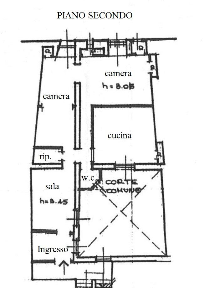 Appartamento in vendita, rif. R/643 (Planimetria 1/1)