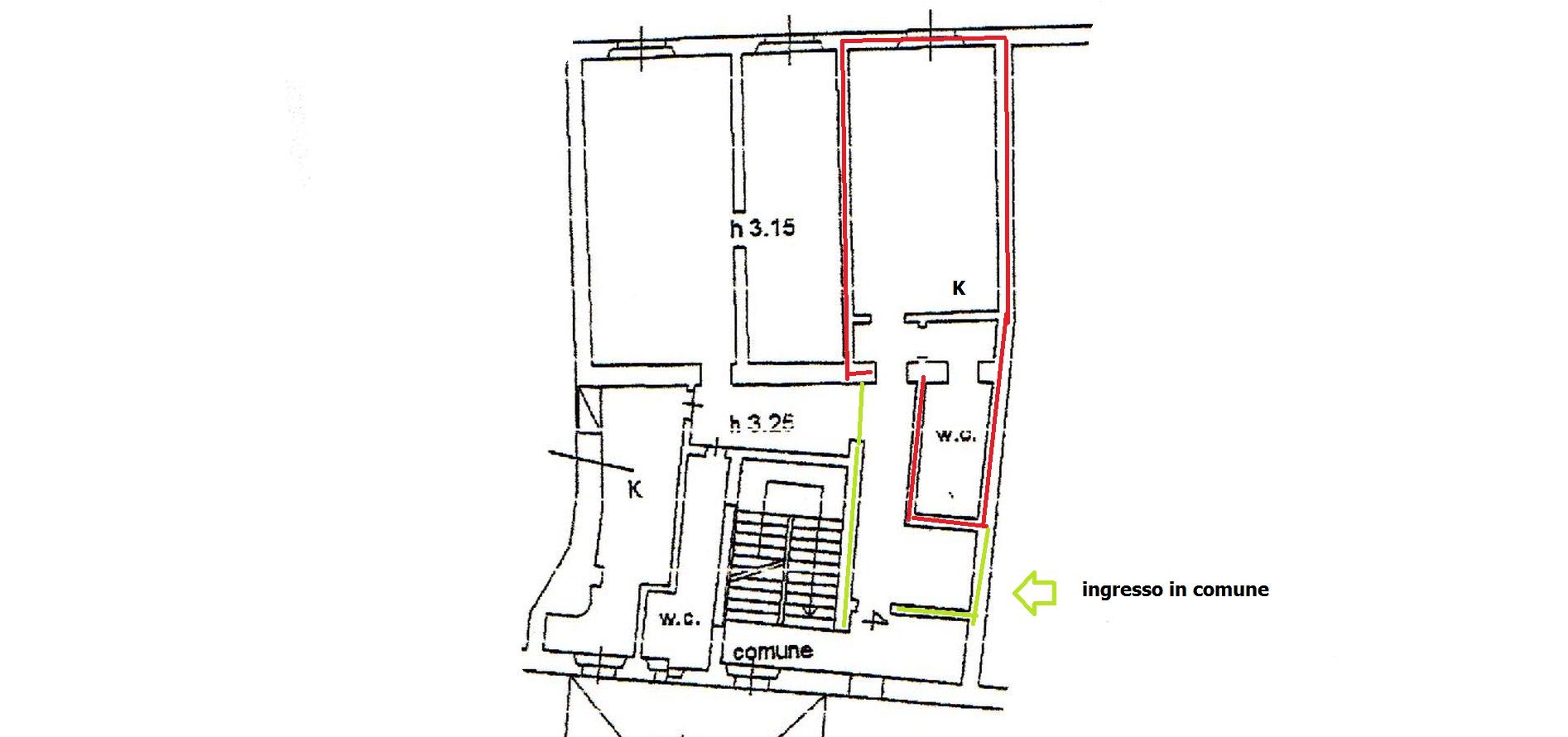 Appartamento in affitto, rif. R/644 (Planimetria 1/1)