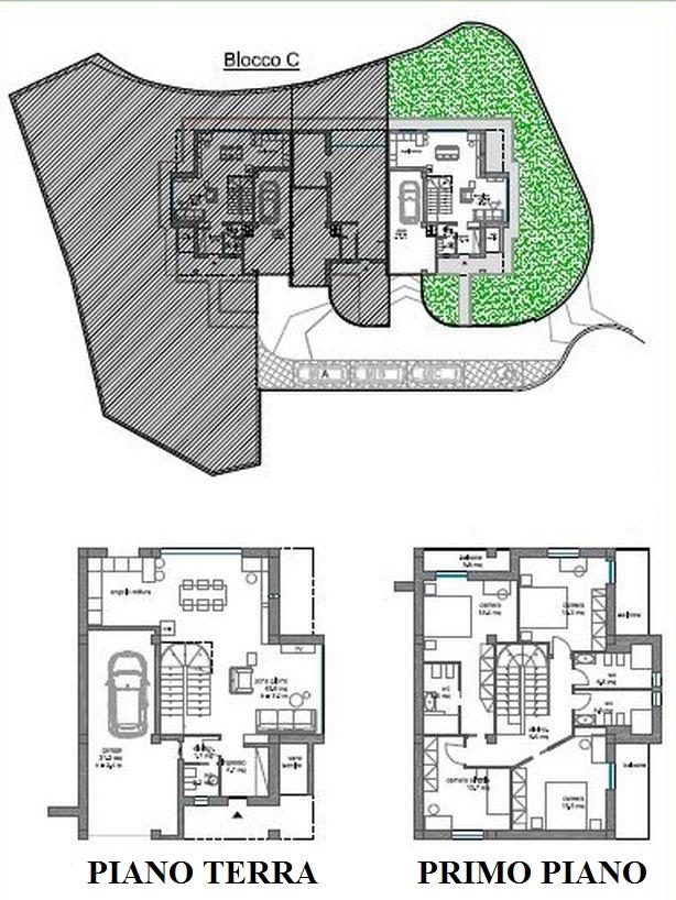 Terratetto in vendita, rif. R/646 (Planimetria 2/2)