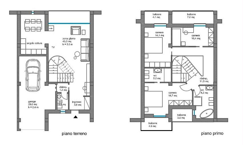 Terratetto in vendita, rif. R/647 (Planimetria 2/2)