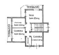 Appartamento in affitto, rif. R/652 (Planimetria 1/3)