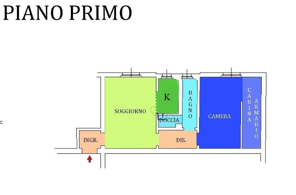 Appartamento in vendita, rif. R/653 (Planimetria 1/1)
