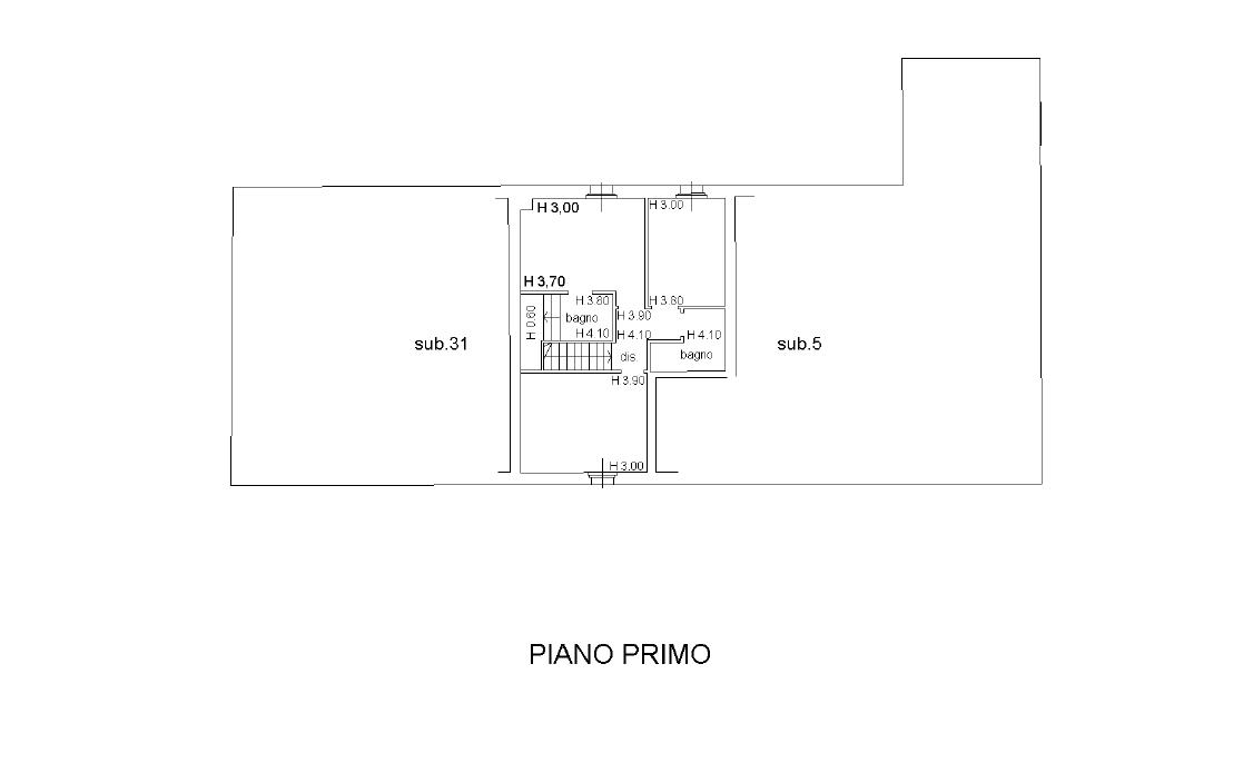 Terratetto in vendita, rif. 386 (Planimetria 2/3)