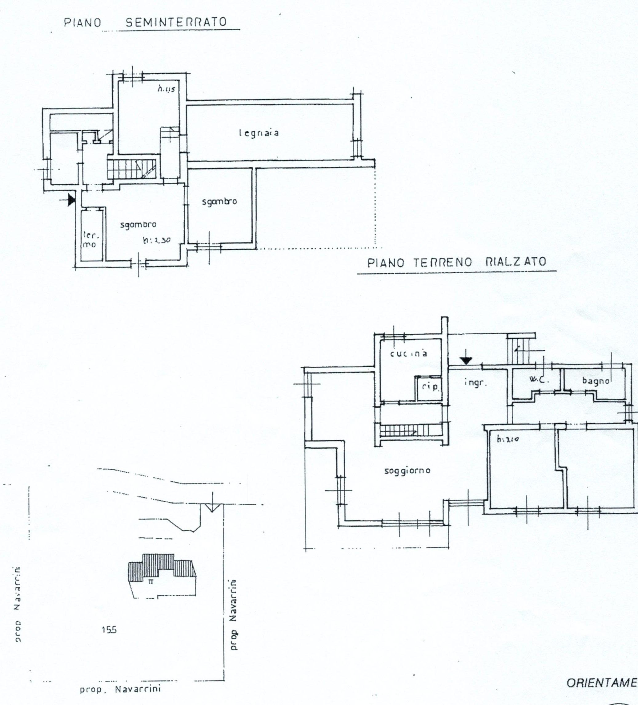 Planimetria 1/2 per rif. 443