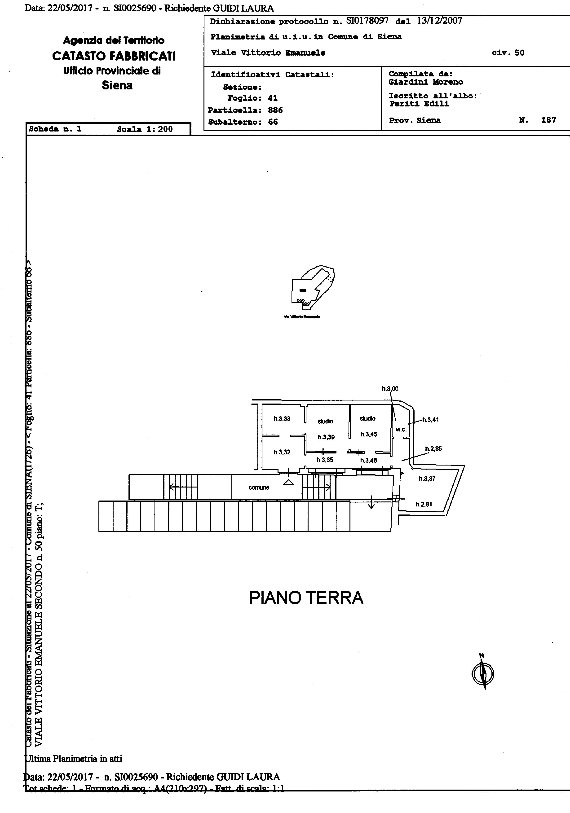 Planimetria 1/1 per rif. 618