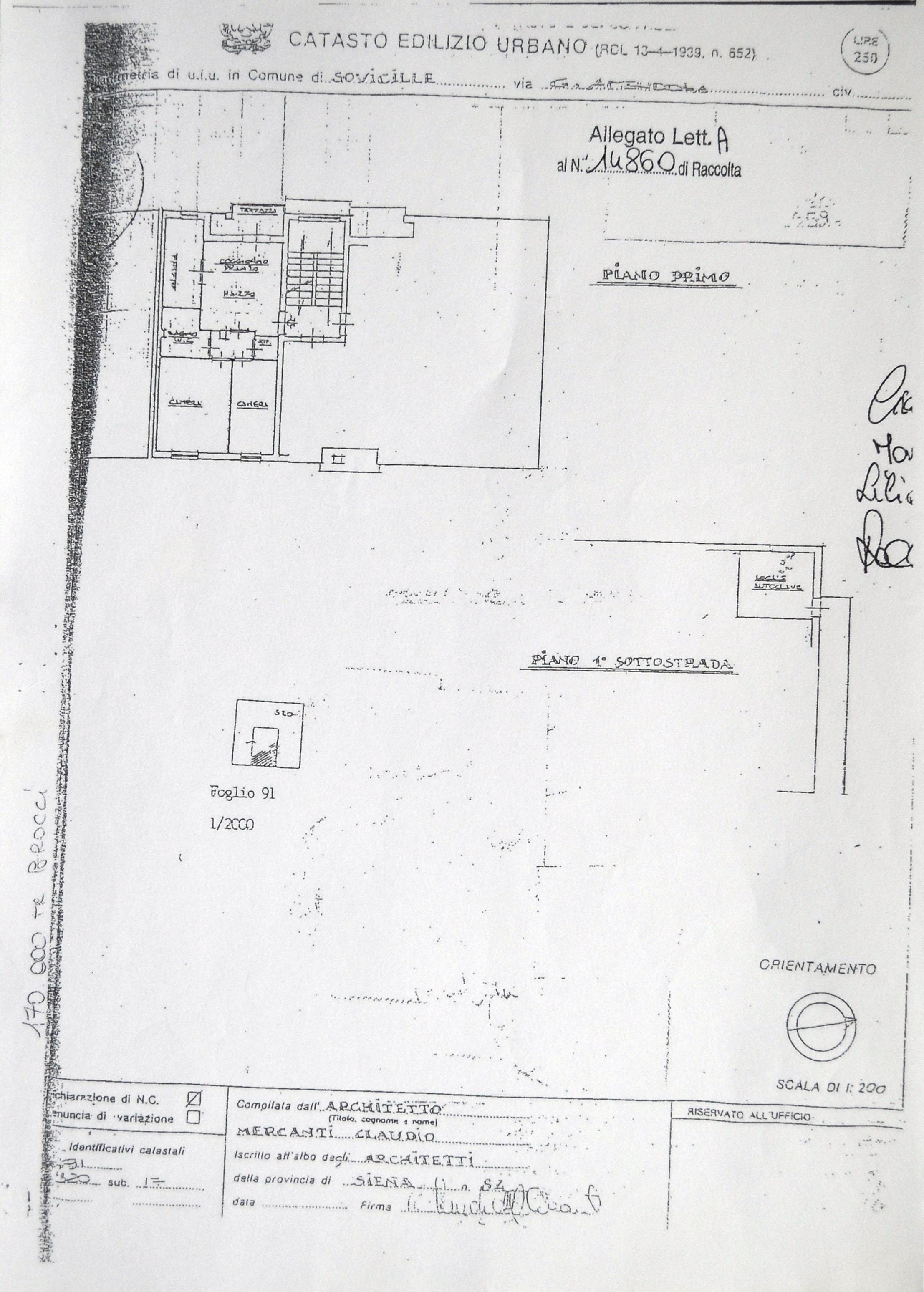 Planimetria 1/2 per rif. 629