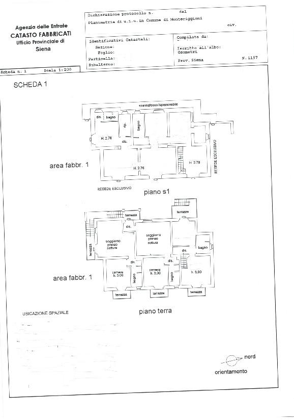 Planimetria 1/1 per rif. 646