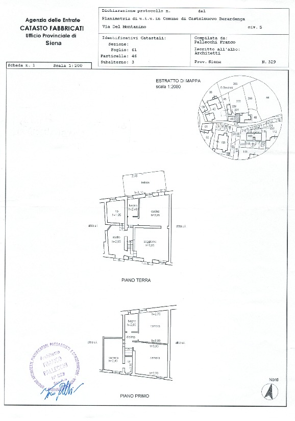 Planimetria 1/1 per rif. 678
