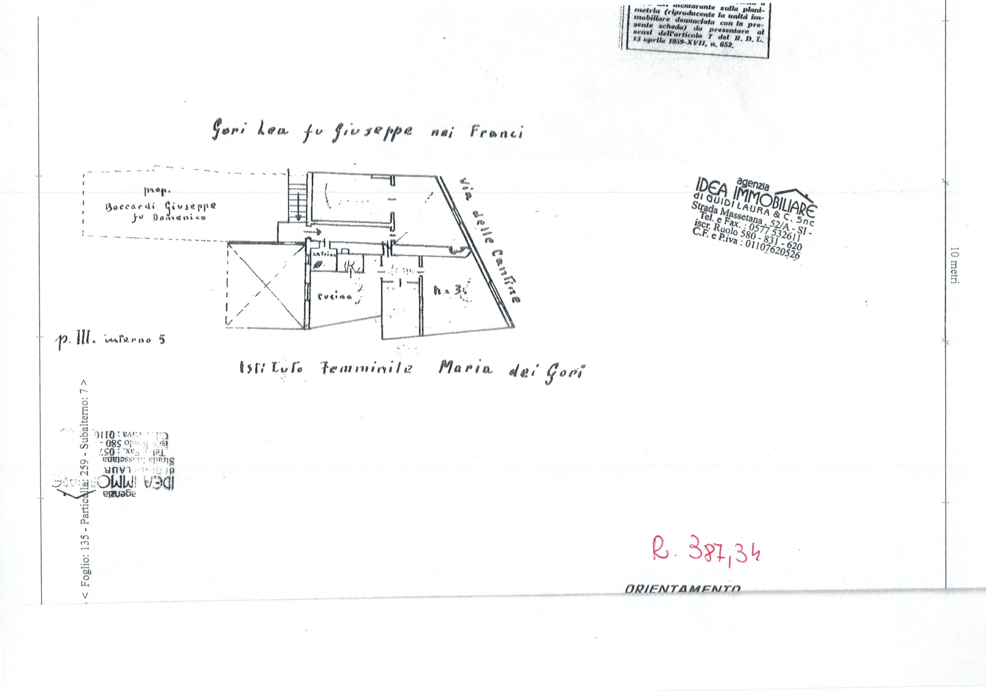 Planimetria 1/1 per rif. 741