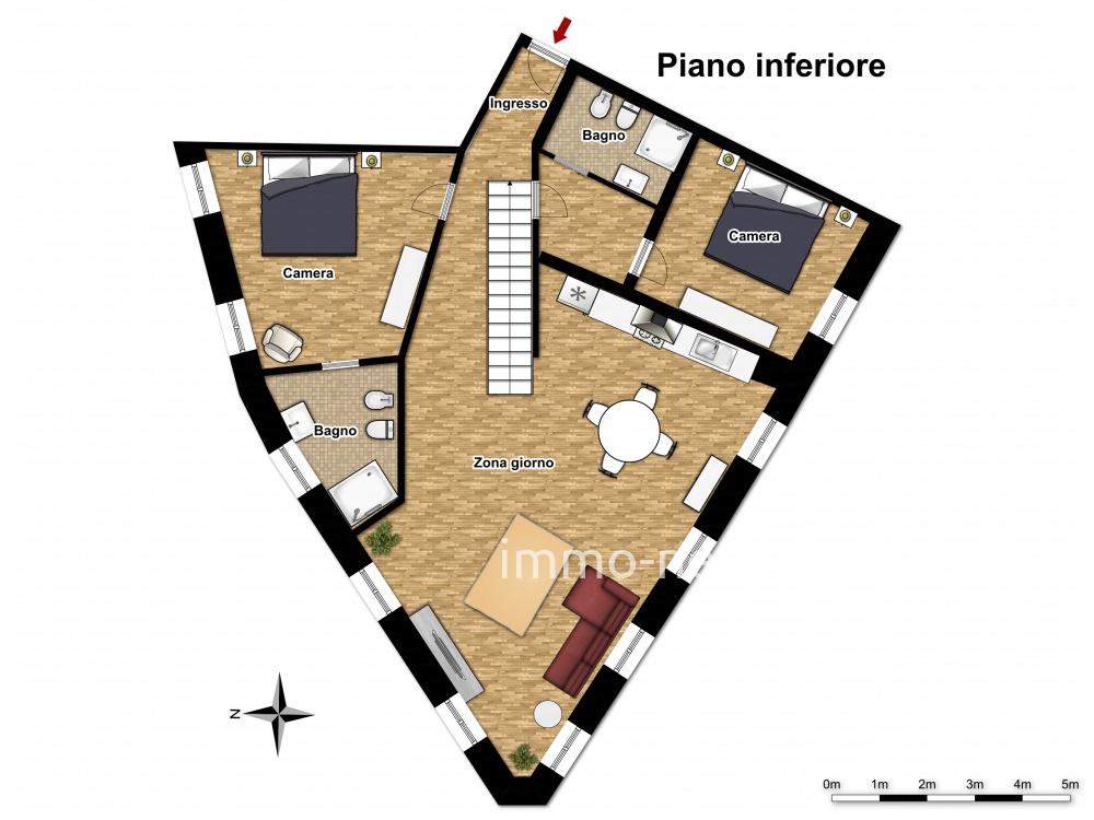 Planimetria 1/2 per rif. 744