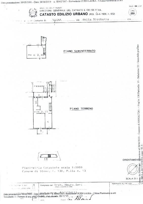 Planimetria 1/1 per rif. 756