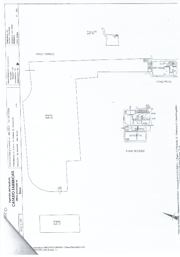 Planimetria 1/1 per rif. 781